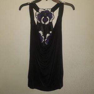 XXI | Purple & Black Sleeveless Top